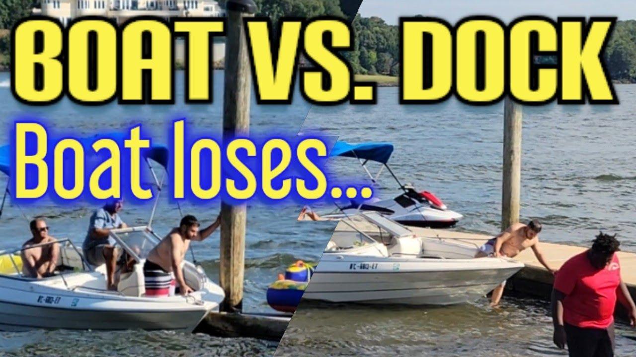 Download Boat vs. Dock Post. Boat loses.