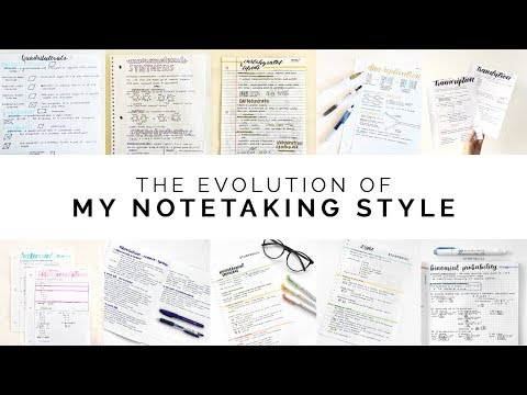 The Evolution of My Notetaking Style