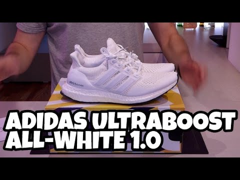 f0341459 Adidas Ultra Boost All White / Triple White 1.0 OG Recensione / Review ITA