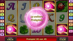 Novoline Online - Lucky Lady's Charm - 45 Freispiele auf 1 Euro Einsatz - Echtgeld