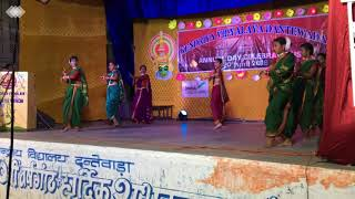 Marathi dance by Shreya and Group on Annual Function 2018-19