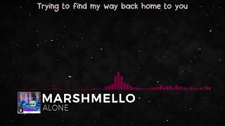 Download Mp3 Marshmello - Alone  Lyric Video
