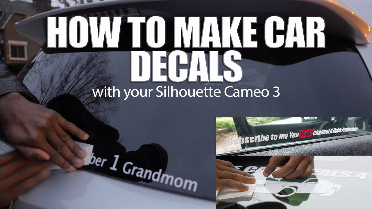 How to make a car decal (Silhouette Cameo 3) - YouTube