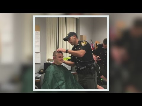 Portage County Sheriff's Office Deputies Shave Their Heads For Deputy With Breast Cancer
