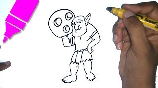 How to Draw Bowler   Clash of Clans   Easy step by step drawing for kids