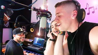 MAKING A SONG WITH A MUSIC LEGEND!!! Ft. Frankie J