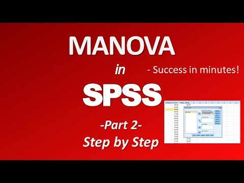 SPSS Tutorial #12: MANOVA (Multivariate Analysis of Variance)из YouTube · Длительность: 15 мин58 с
