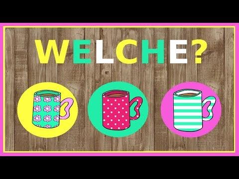 Deutsch A2 B1: Welcher, welche, welches Fragepronomen German lesson: question pronoun