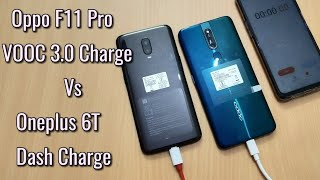 Oppo F11 Pro VOOC 3.0 Charge Vs Oneplus 6T Dash Charge