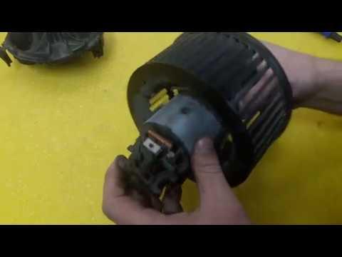Замена щеток меднографитовых на вентиляторе отопителя.