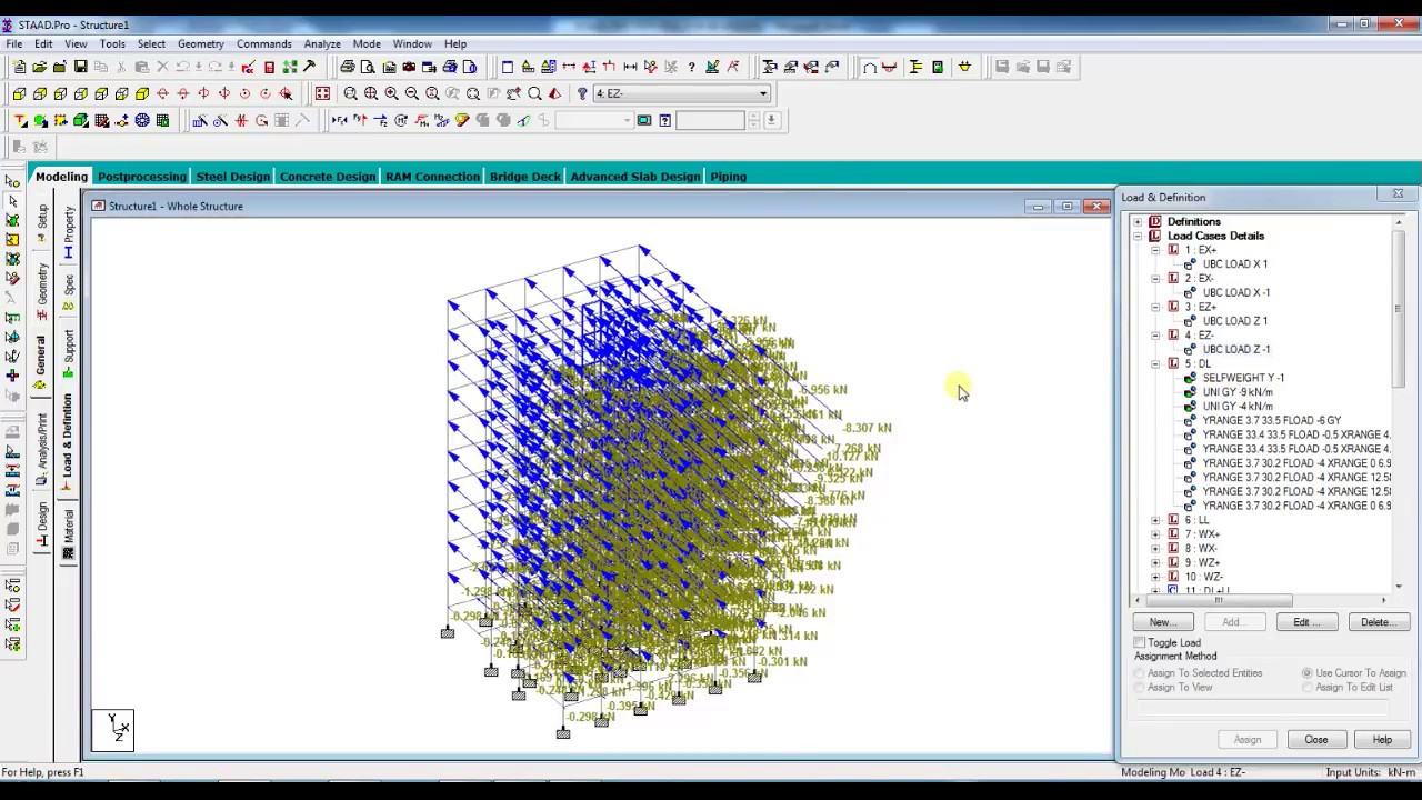SEISMIC LOAD ANALYSIS IN STAAD PRO LESSON 12