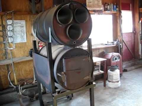2 Barrel Wood Stove Youtube