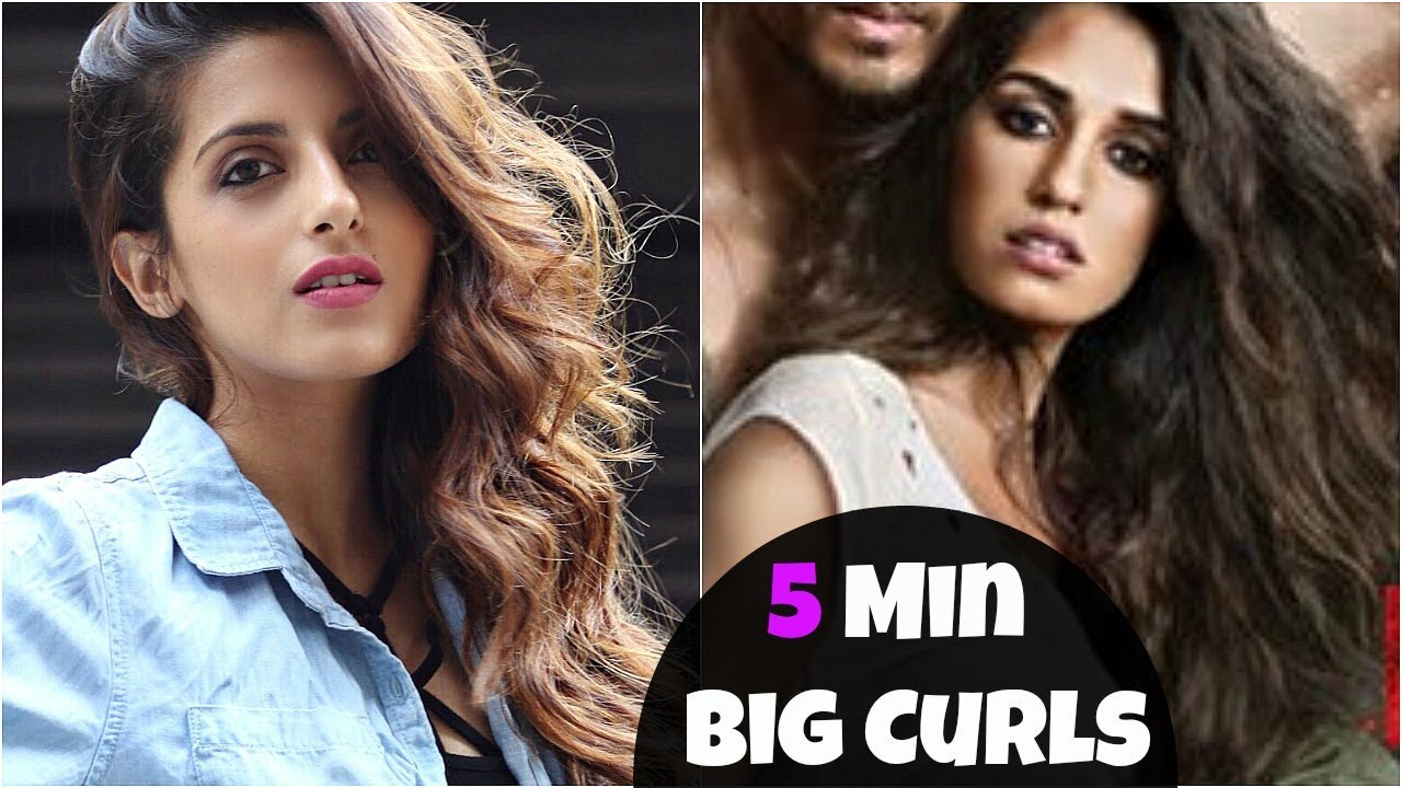 How To Get Big Volumized Curls Hair Disha Patani Look Baaghi 2 Knot Me Pretty Youtube