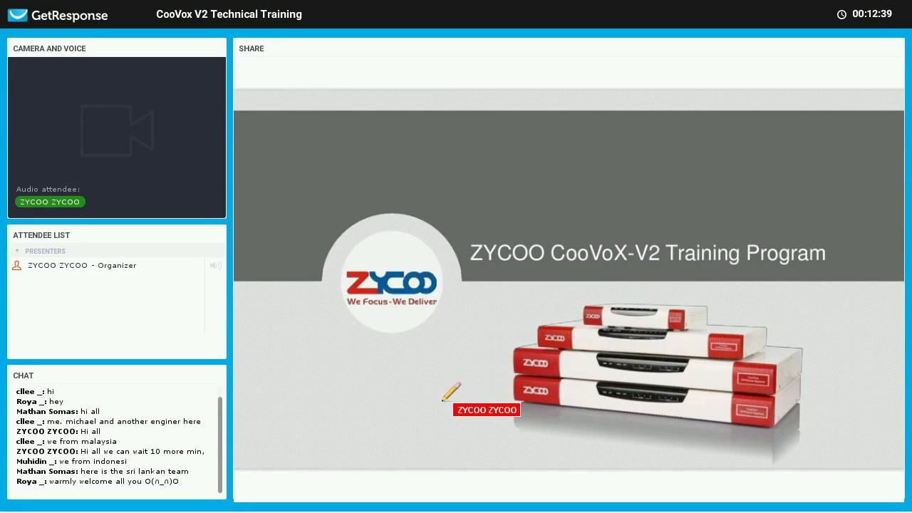 Zycoo CooVox Version 2 Training - SIPMAX Hong Kong
