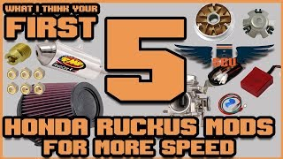 Honda Ruckus : 5 things to make your Ruckus faster [IMO]