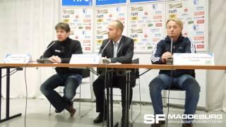 Pressekonferenz - 1. FC Magdeburg gegen VfL Wolfsburg II 0:1 (0:1) - www.sportfotos-md.de