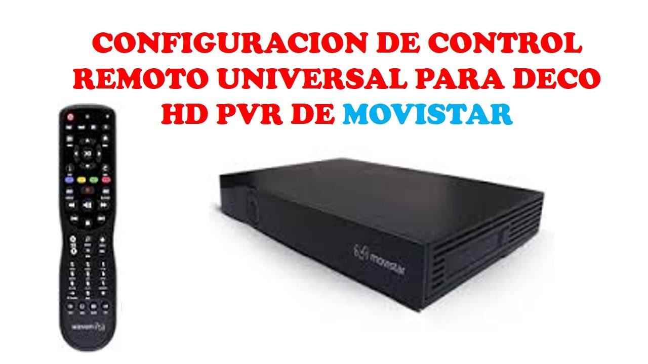 CONFIGURACION DE C REMOTO PARA DECO HD PVR DE MOVISTAR-CURSO DE TELEVISION  POR CABLE