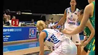 Greece vs Australia 54   93 Highlights Woman World Championship FIBA 2010 Basketball Czech Preliminary Round 27 9 10