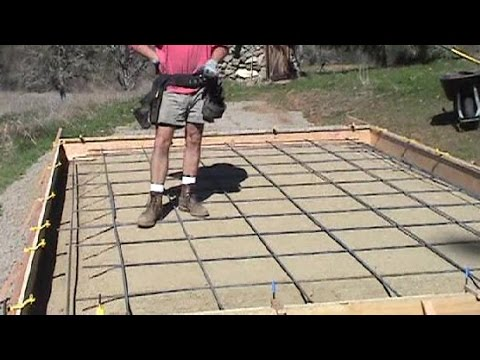 Rebar Grid For Concrete Slab Youtube
