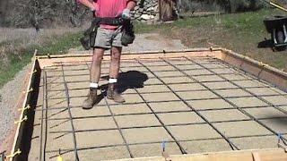 Rebar grid for concrete slab
