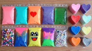 Making Crunchy Slime with Bags and Clay #131 | SlimeAmis