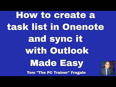 How to make a task list in  OneNote and sync it with Outlook - Office 365 OneNote to Outlook 2016