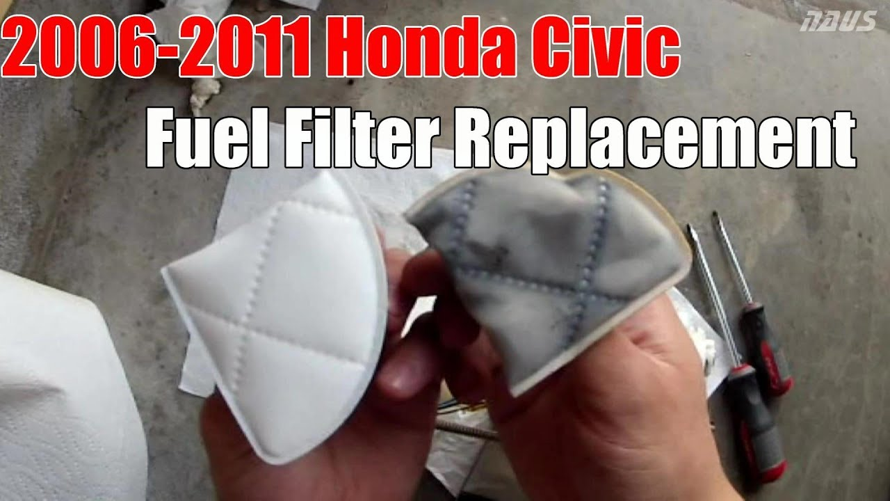 8thgen honda civic fuel filter strainer replacement diy [ 1280 x 720 Pixel ]