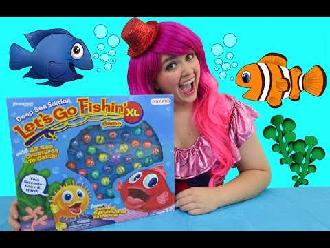 Let's Go Fishin' XL Deep Sea Edition Game   TOY REVIEW   KiMMi THE CLOWN