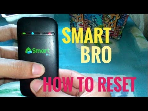 How To Reset Smart Bro Pocket Wifi