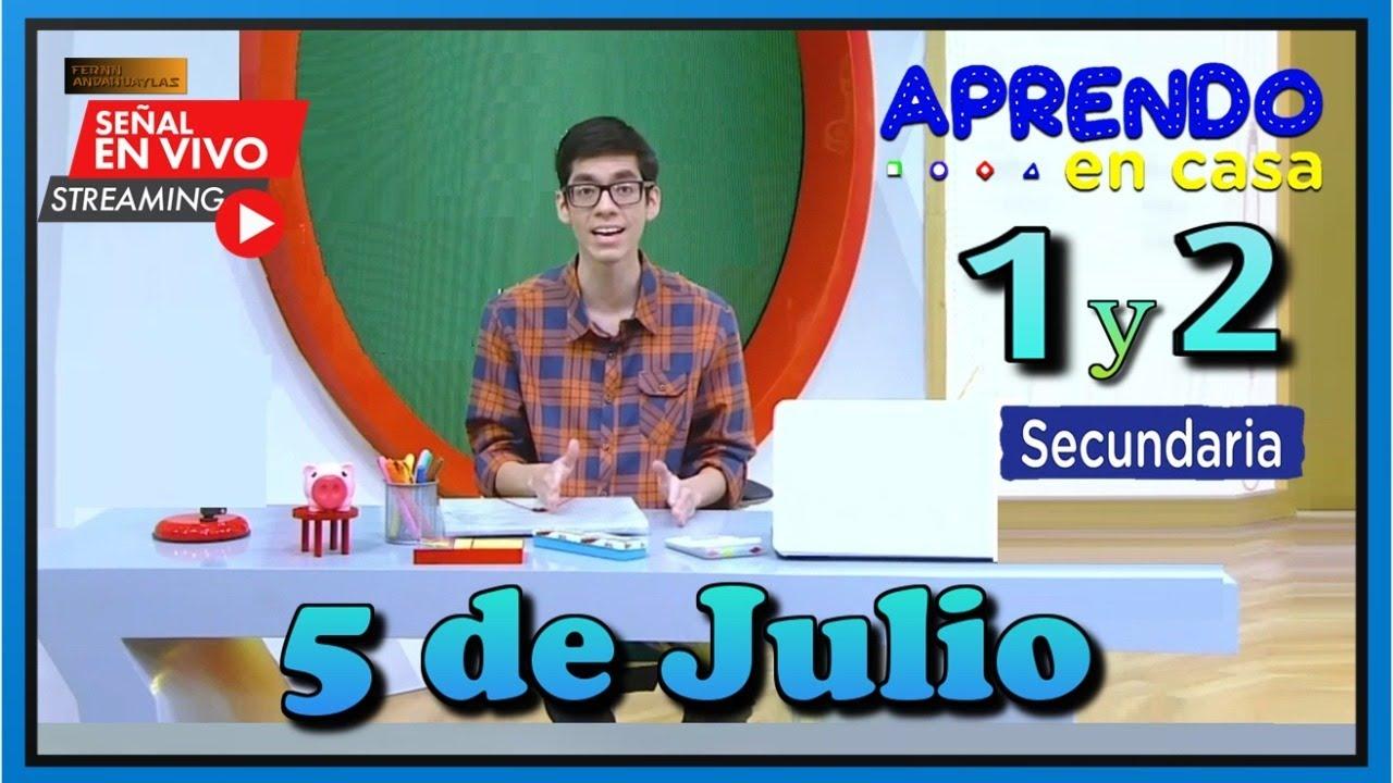 EN VIVO 📲 APRENDO EN CASA SECUNDARIA 1 y 2 GRADO ✅ LUNES 5 DE JULIO DEL 2021 TVPERU - download from YouTube for free