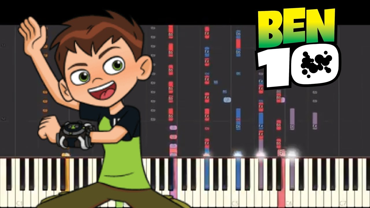 IMPOSSIBLE REMIX - Ben 10 Theme Song - Piano Cover