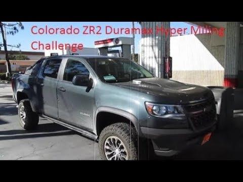 Colorado ZR2 Duramax Diesel 2.8  Fuel Economy Hypermiling Challenge 30 MPG? Real world Mileage