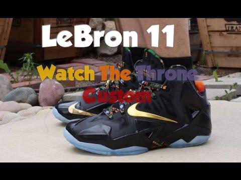 LeBron 11 Watch The Throne Custom | On Feet - YouTube