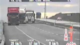 Van overturns on the highway