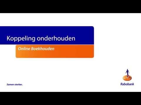 rabo internetbankieren professional online boekhouden koppeling onderhouden