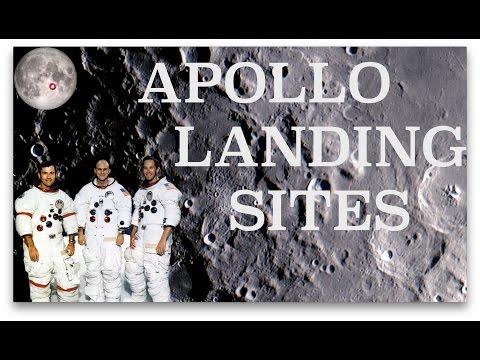 Apollo Landing Sites through my Telescope