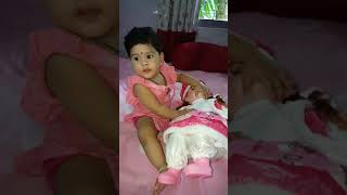 Cute Kids And Cutest Dolls - Baby Girl with Baby Doll