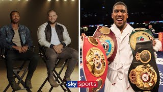 Who wins between Anthony Joshua and Deontay Wilder?! | Creed II Stars on AJ