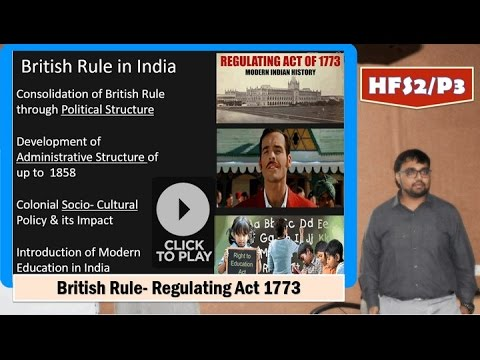 HFS2/P3: British Rule- Regulating Act 1773 & East India Company