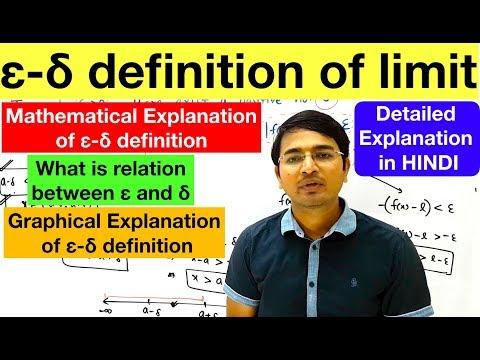 Epsilon Delta Definition of Limit...detailed explanation in Hindi
