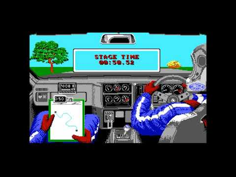 FULL Lombard RAC Rally DOS PC Game (1988) Mandarin Software