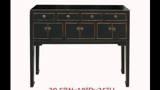 Narrow Black Chinese Entrance Hallway Console Altar Table Wk2557