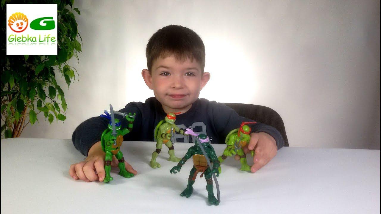 Обзор игрушек: Черепашки ниндзя. Игрушки для мальчиков.