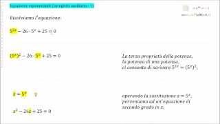 Equazioni esponenziali Incognita ausiliaria 1