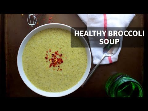 BEST HEALTHY BROCCOLI SOUP | paleo, dairy-free, gluten-free