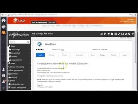 UK2torials: How To Install WordPress Using cPanel - YouTube
