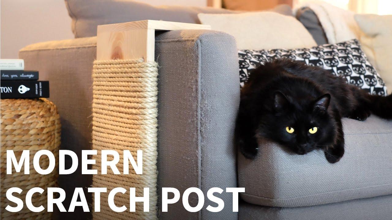 diy modern cat scratching post  youtube - diy modern cat scratching post