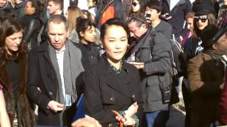 Rinko Kikuchi 菊地凛子 @ Paris Fashion Week March 2014 Show Vuitton.