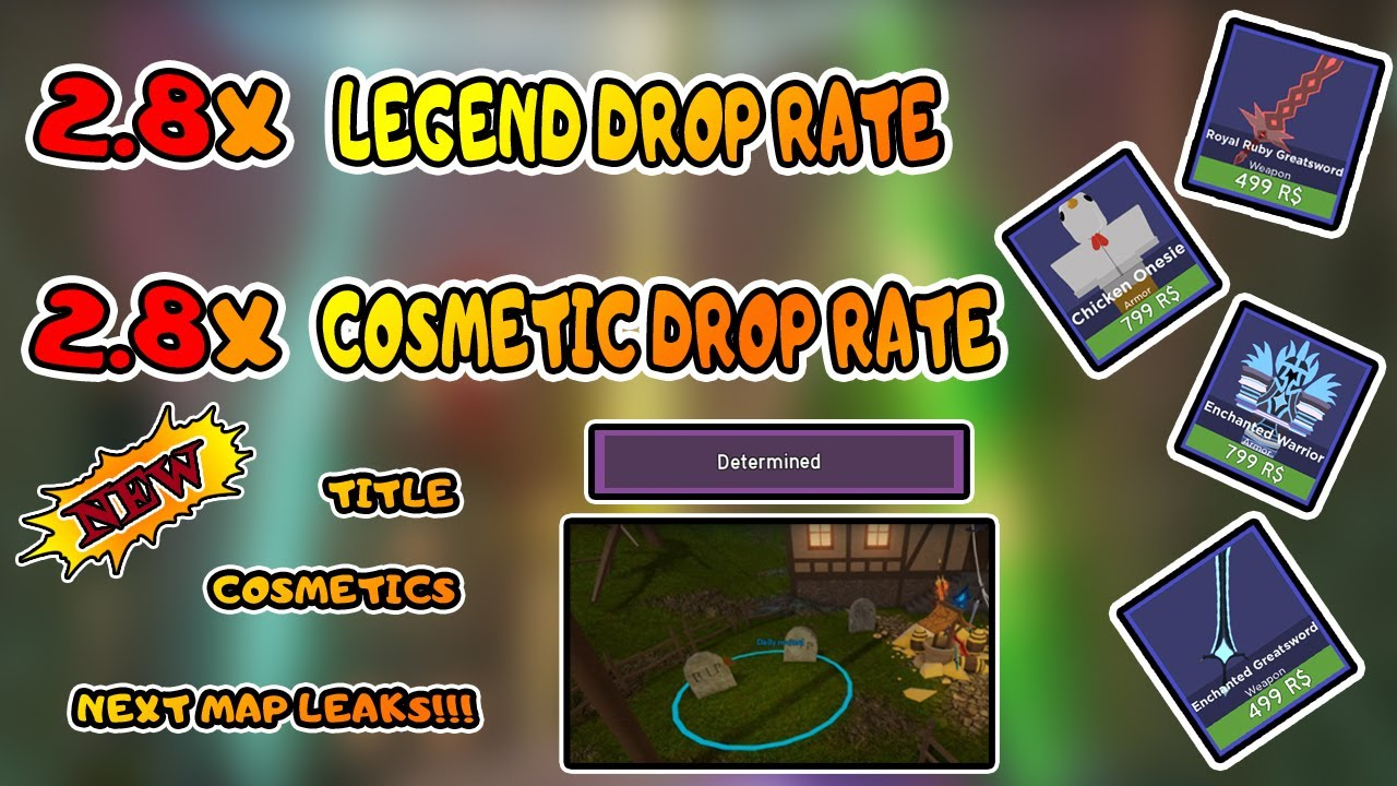 Dungeon Quest Cosmetic Drop Rates