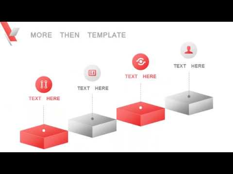 red business lowpoly powerpoint templates - youtube, Low Poly Business Presentation Template, Presentation templates